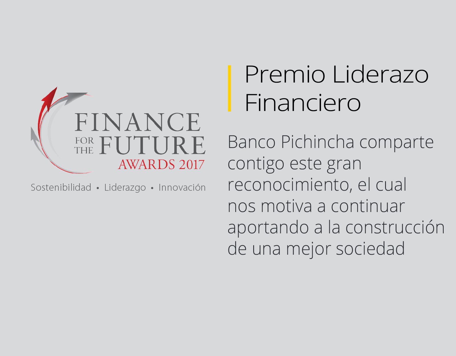 Premio Finance the for Future Awards 2017